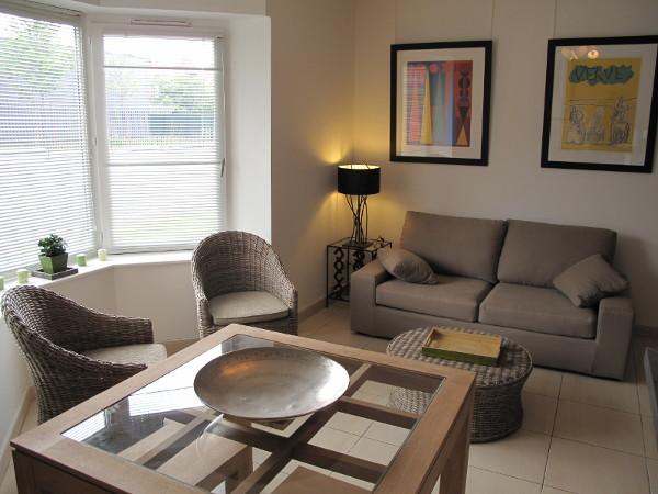 Appartement meubl 1 chambre avec bow window de 36 m et for Studio arredato