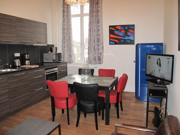 1 bedroom furnished apartment 45 sqm to rent Valenciennes
