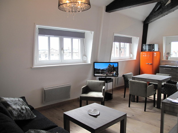 1 bedroom furnished apartment 40 sqm for rent Valenciennes