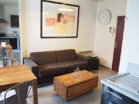 Luxury furnished studio flat 22m² + balcony + underground car park for rent Valenciennes