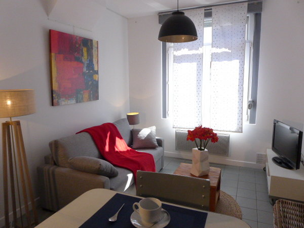 Luxury furnished studio flat about 25m² for rent Valenciennes