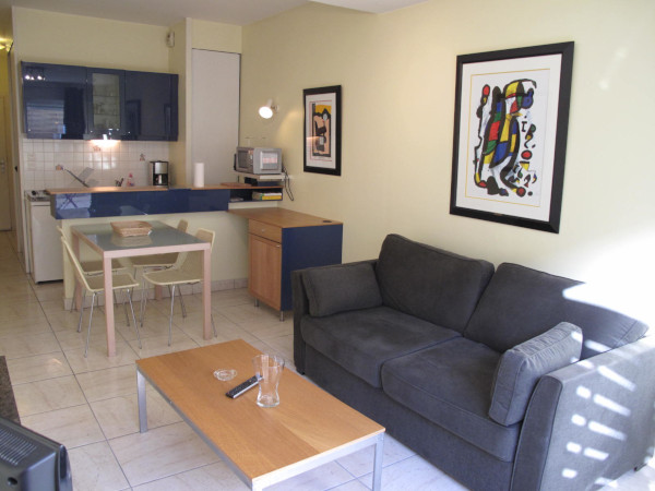 Furnished and decorated studio flat 31m² + 10m² terrace area + underground car park for rent Valenciennes