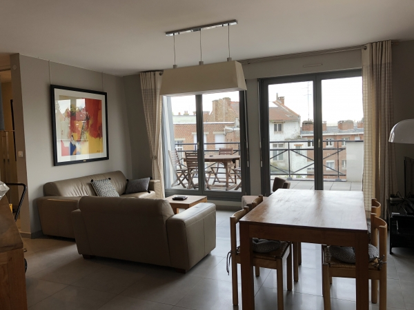 2 bedroom fully furnished apartment (74.93 sqm) + large terrace + cellar + parking space for rent Valenciennes